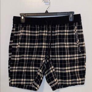 Plaid punk rock shorts